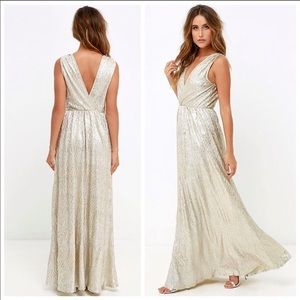 Gold and Silver Maxi Dress